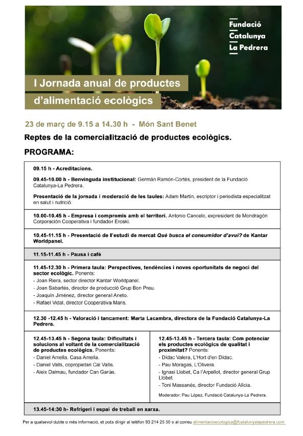 I Jornada anual de productos de alimentación ecológica