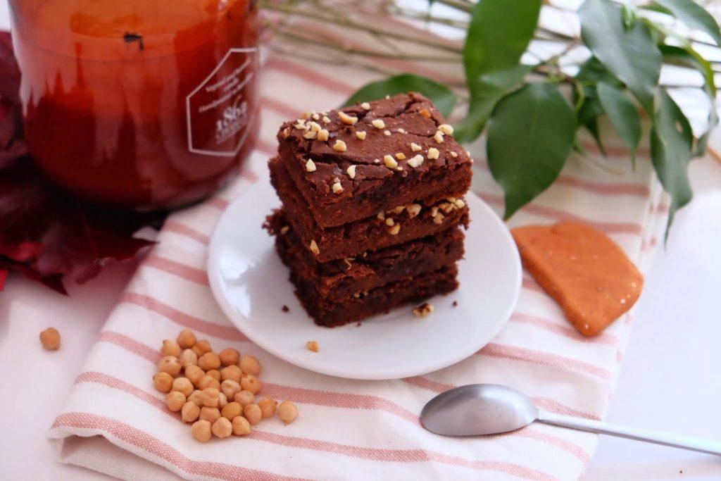 Brownie de chocolate y garbanzos