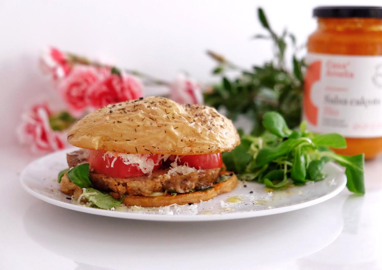 Burger vegana sin pan