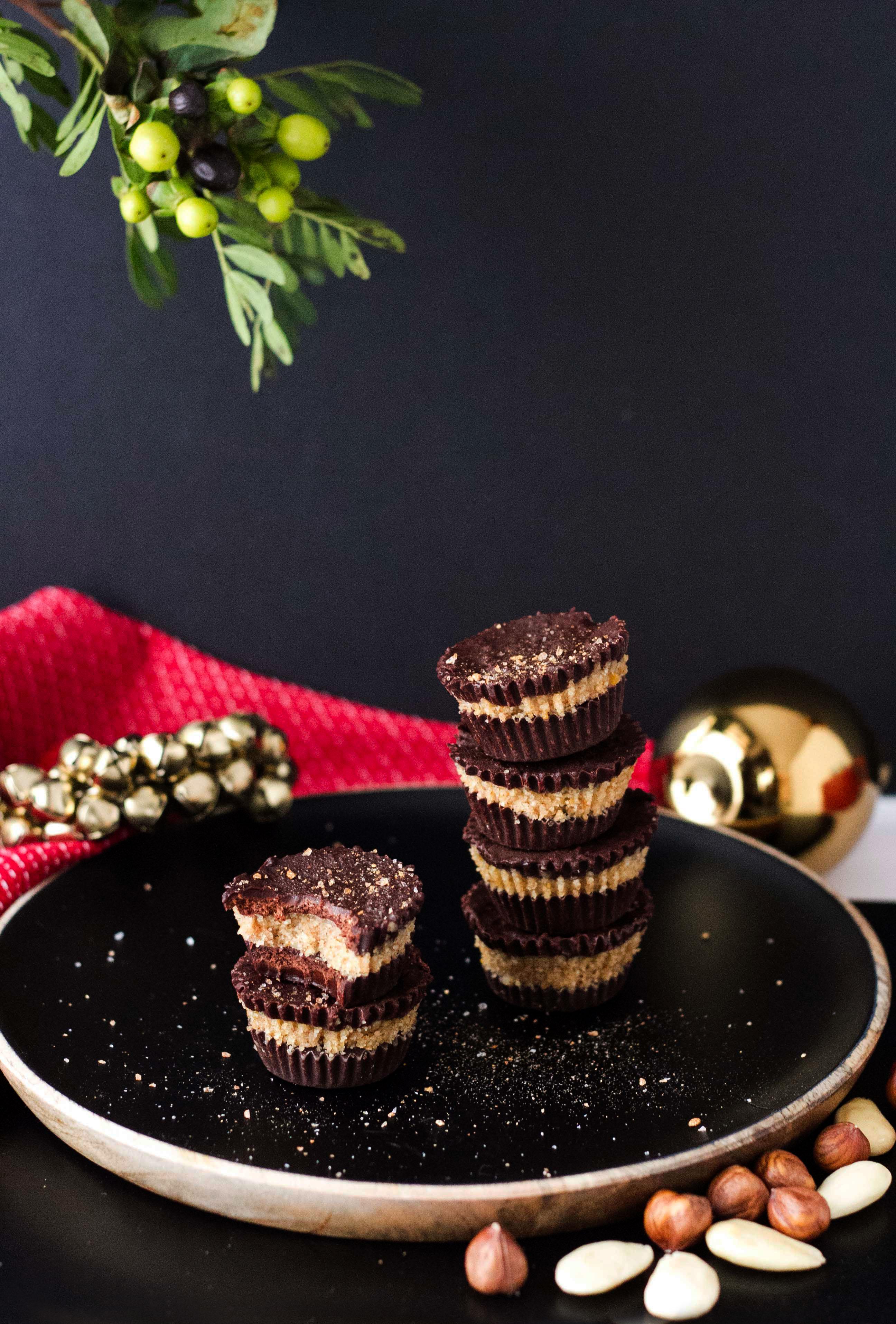 Chocolatinas rellenas de crema de frutos secos